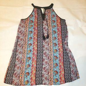 Halter floral dress boho